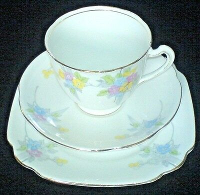 STANDARD CHINA / CHAPMANS -MAY BLOSSOM 1916-30 Cup/Saucer/Plate Trio x1(4 avail