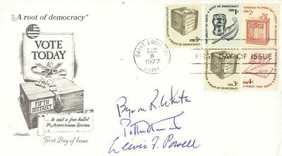 Byron R. White - First Day Cover Signed With Co-Signers