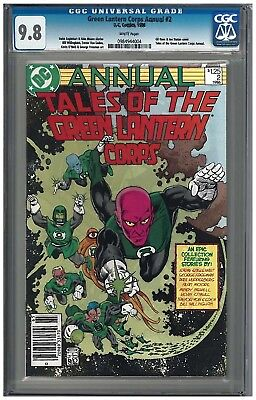 GREEN LANTERN CORPS ANNUAL #2 CGC 9.8 (1986) DC white pages