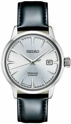 Seiko Presage Men's 23 Jewels Automatic Stainless Steel Leather Watch SRPB43