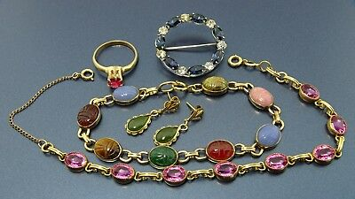 lot of Gorgeous Vintage/antique Gold-fill necklace /bracelets/ring/Earning