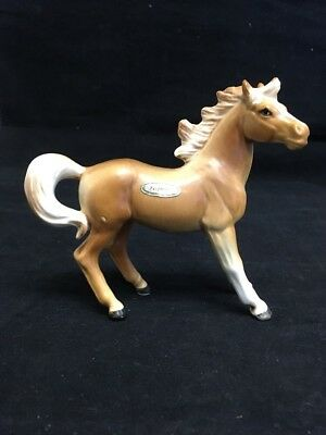 "Palomino Porcelain Tan Horse Figure Made In Japan 4"" Tall"