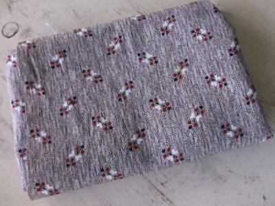 Back In Time Textiles~Rare Antique 1860-70 brown fabric~