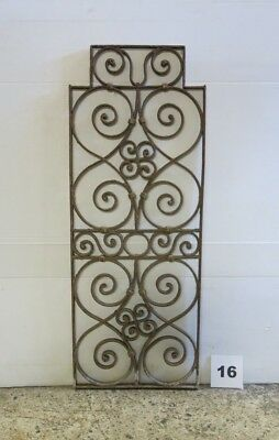 Antique Egyptian Architectural Wrought Iron Panel Grate (IS-016)