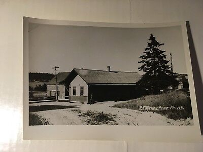 Vintage photo Maine Central Railroad station Perry Maine ME
