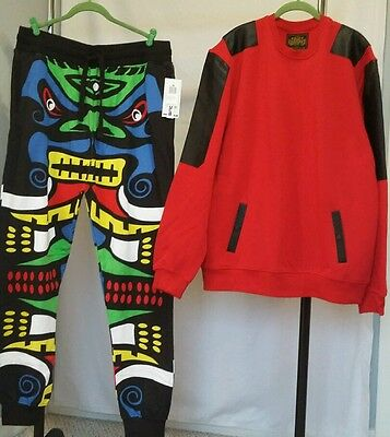 Nwt-Bleecker & Mercer -Harlem-Hip Hop Fleece Set-You Tube -80% Off ☆Mens Xl☆