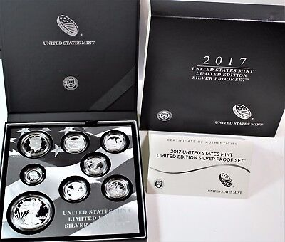 2017 S United States Mint Limited Edition 8pc Silver Proof Set w/OGP