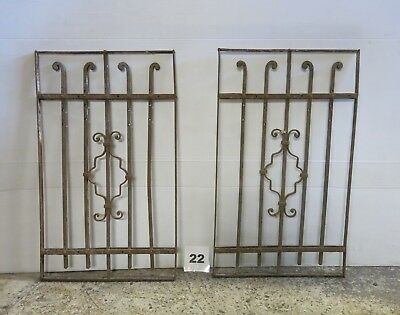 Antique Egyptian Architectural Wrought Iron Panel Grate (IS-022)