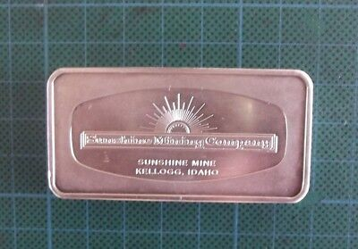 4.167 Troy Oz, 1973 Sunshine Mine.  .999 Fine Silver Bar.