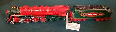 Franklin Mint North Pole Limited Express 2 Piece Train Ho Scale Die-Cast Metal