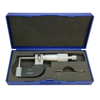 "0-1"" Tube Micrometer 0.0001"" Graduation Carbide Tipped Neck Ball Spherical Anvil"