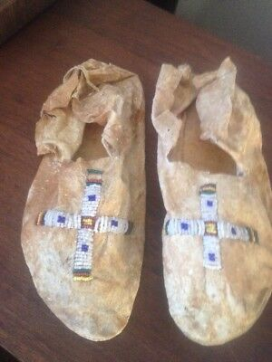 Antique Beaded Moccasins