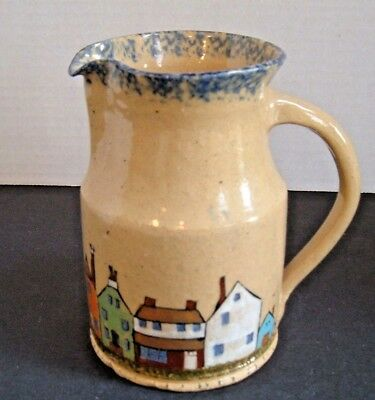 1976 Left Handed Russell Henry Yellow Ware ~ Haycreek Village Row Pitcher