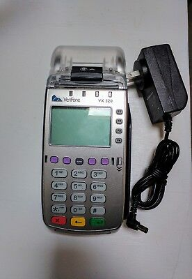 Verifone vx520 credit card w/ chip reader ~ includes power adapter