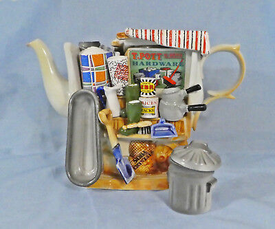 Cardew Hardware Stall Large Teapot With Garbage Pail Sugar - Signed 1993