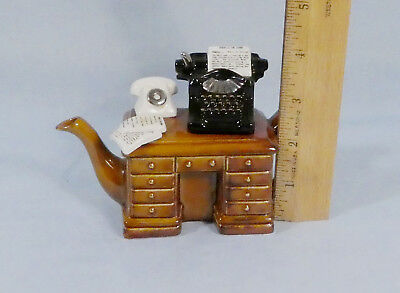"Paul Cardew Small Teapot Crime Writers Desk ""Murder At The Grange"""