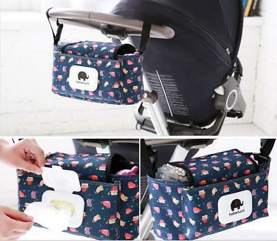 Pram Stroller Storage Buggy Cup Bottle Holder stroller Organiser Mummy Bag