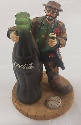 1995 Coca Cola EMMETT KELLY Clown Figurine ~ Big Big Taste ~ LIMITED EDITION