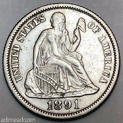1891-S 10C Liberty Seated Dime DC2974GY