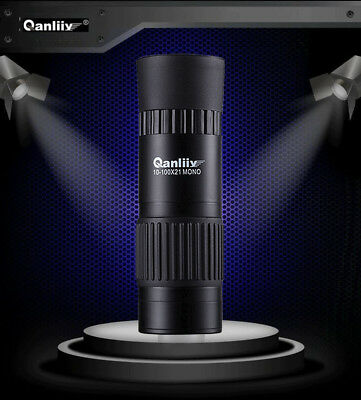 QANLIIY 10-100x21 Portable Pocket-Size Mini HD Vision Monocular Telescope