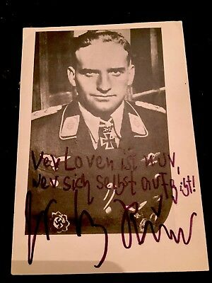 Hans Ulrich Rudel Picture/ autograph, most decorated  German Serviceman of WW2