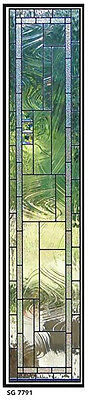 Replacement Stained Glass Window, Sidelights,Transom   Design SG 7791 WoW