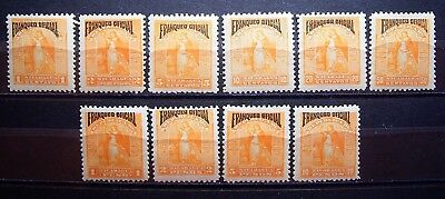 Nicaragua - Set, Franked Official On 1894 Victory Mint Hinged Stamps