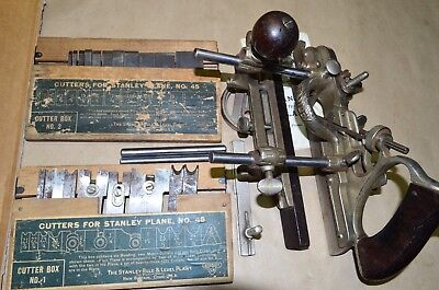 VINTAGE STANLEY No 45 COMBINATION  PLANE SWEETHEART USA, ANTIQUE TOOL