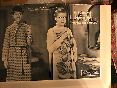 Mighty Like A Moose 1926 Pathe/Hal Roach silent comedy lobby card Charley Chase