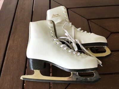 Pair Of Davis Figure Skates, White Size 38, From Germany, Ice Skates