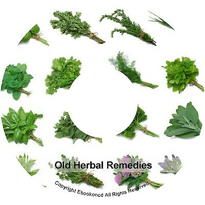 Old Herbal Remedies Cures - Cultivation of Herbs Medicinal Plants Books on CD