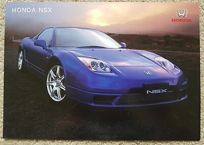 Brand new and rare! 2002 Honda NSX double sided brochure printed Feb 02