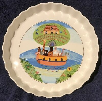Villeroy & Boch DESIGN NAIF Noah's Ark Quiche/Pie dish. Gift Quality
