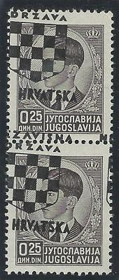 Croatia. 1941 (21 April). 2nd Provisional Issue. OVERPRINT MISPLACED, VF mint*