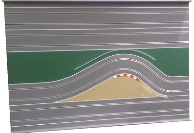 "MrTrax Modular Slot Car Track, 2 Lane CENTER CHICANE SECTION ""A"""