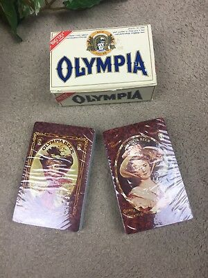 Olympia Beer Playing Cards-Victorian Pin-up Girls New in Box Vintage 2 Decks