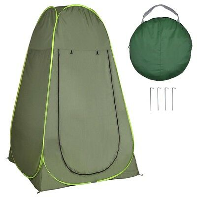 Pop Up Changing Room Toilet Shower Camping Dressing Bathroom Tent 4 Person Green
