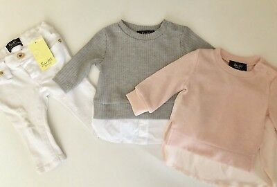 Bardot Baby Girl Mixed Lot Jumpers Jeans 000 00 3 Months