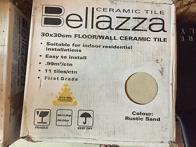 Boxes of Rustic Sand gloss tiles, ceramic, floor, wall, 300x300mm