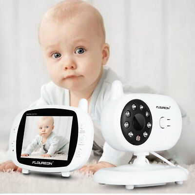 LCD 2Way Baby Monitor Camera 3.5'' Wireless Audio Video Night Vision Temperature