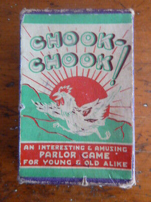 Chook - Chook Parlor Game Vintage Card Game c1930s Rules Included Complete