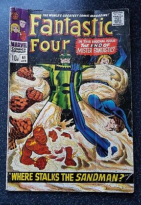 Fantastic Four #61 Apr 1967  -  poor condition