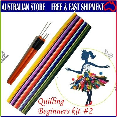 500 x 3mm 25 colors Quilling paper strips + tool. It's a  Beginners/Starters kit