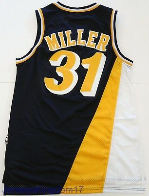 Throwback Basketball Jersey REGGIE MILLER 31 Indiana Pacers Navy Blue Men Sz L