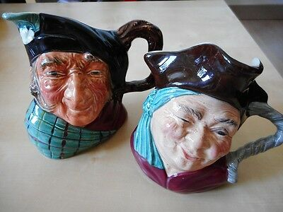2 chopes Kelsboro Ware Auld Mac et Jolly Roger porcelaine porcelain figure mugs