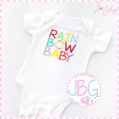 Rainbow Baby Unisex Vest/Bodysuit, Baby Rainbow Clothes, Baby Shower Gift