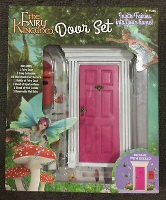 The Fairy Kingdom Door Set with Mailbox Kids Playset Play Girls Toys PINK