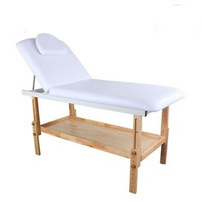Manual Massage Table with Timber Base Storage