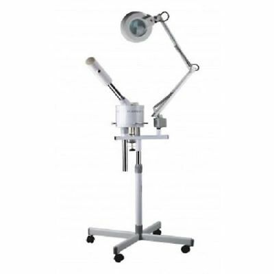 Pro 2 in 1 Facial Steamer 5 X Zoom Magnifying Lamp Hot Ozone Spa Salon Beauty