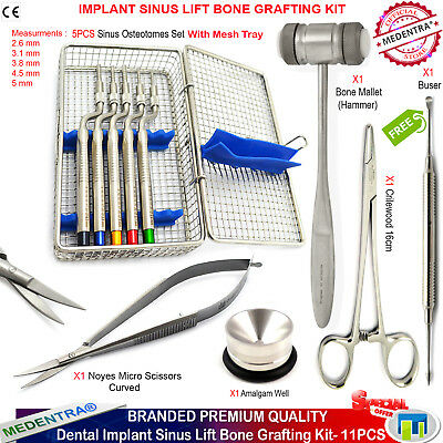 Implant Offset Sinus Osteotome Bone Graft Hammer Microsurgery Scissors Forceps